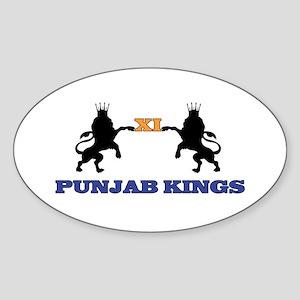 Punjab Kings 11 Oval Sticker