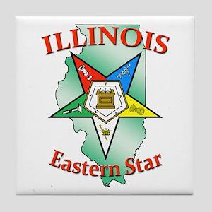 Illinois Eastern Star Tile Coaster