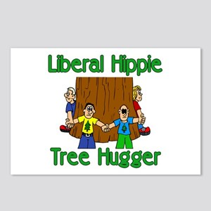 Liberal Hippie Tree Hugger Postcards (Package of 8
