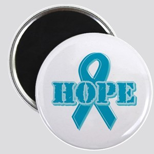Teal Hope Ribbon Magnet