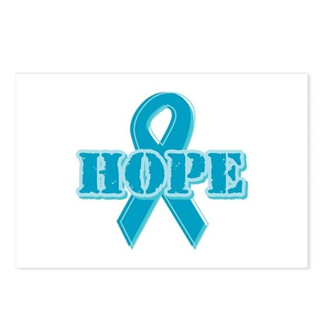 Teal Hope Ribbon Postcards (Package of 8)
