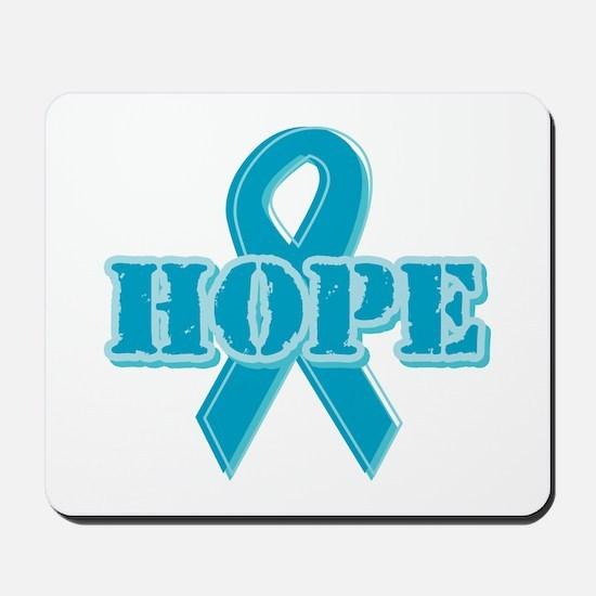Teal Hope Ribbon Mousepad