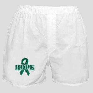 Green Hope Ribbon Boxer Shorts