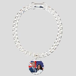 Prince Harry and Meghan Charm Bracelet, One Charm