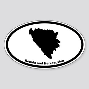 Bosnia and Herzegovina Outline Oval Sticker