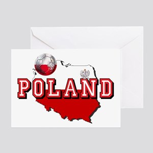 Polish Flag Map Greeting Card