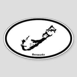 Bermuda Outline Oval Sticker