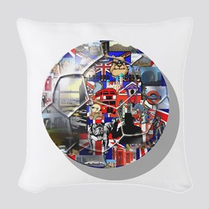 British Culture Woven Throw Pillow