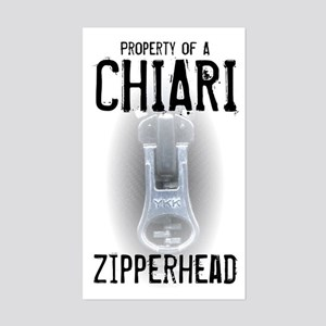 Property of A Chiari Zipperhead Sticker (Rectangle
