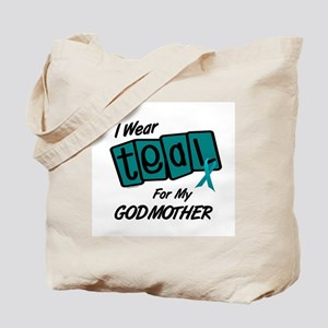 I Wear Teal For My Godmother 8.2 Tote Bag