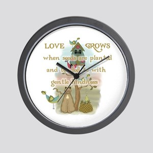 Love Grows Wall Clock