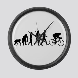 Cycling Evolution Large Wall Clock