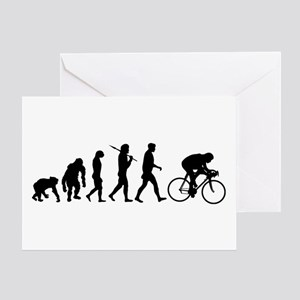 Cycling Evolution Greeting Cards
