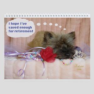 Cairn Terrier Finance Wall Calendar