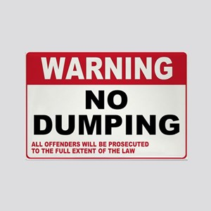 Warning No Dumping Rectangle Magnet