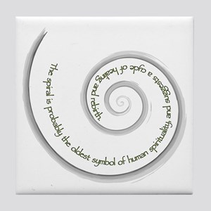 Spiral, Ancient Symbol of Rebirth Tile Coaster