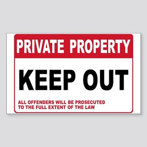 KEEP OUT Rectangle Sticker