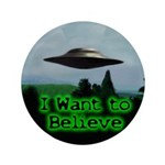 "I Want To Believe 3.5"" Button"
