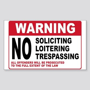 NO SOLICITING Rectangle Sticker