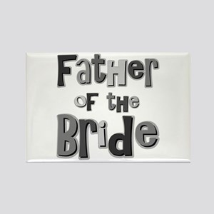 Father of the Bride Wedding Party Rectangle Magnet