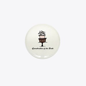 Grandmother of the Bride Pink Cake Mini Button