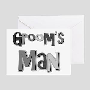 Groom's Man Groomsman Wedding Party Greeting Card