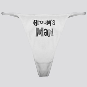 Groom's Man Groomsman Wedding Party Classic Thong