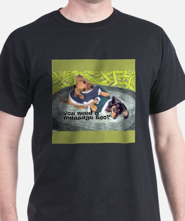 Need a Massage Dachshund Dog Black T-Shirt