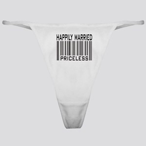 Happily Married Priceless Barcode Classic Thong