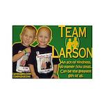 Team Larson Rectangle Magnet