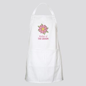 Pink Spring Flower Mother of the Groom BBQ Apron