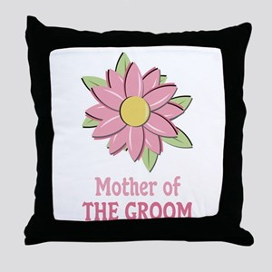 Pink Spring Flower Mother of the Groom Throw Pillo