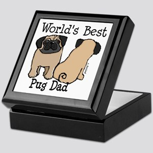World's Best Pug Dad Keepsake Box