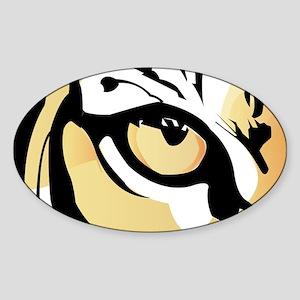 Tiger Eye Oval Sticker
