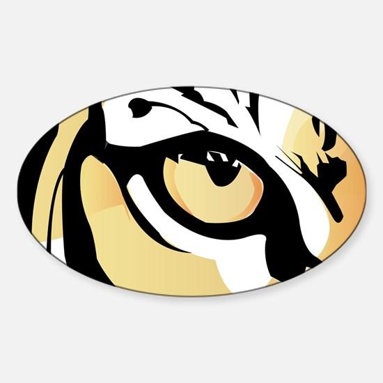 Tiger Eye Oval Decal