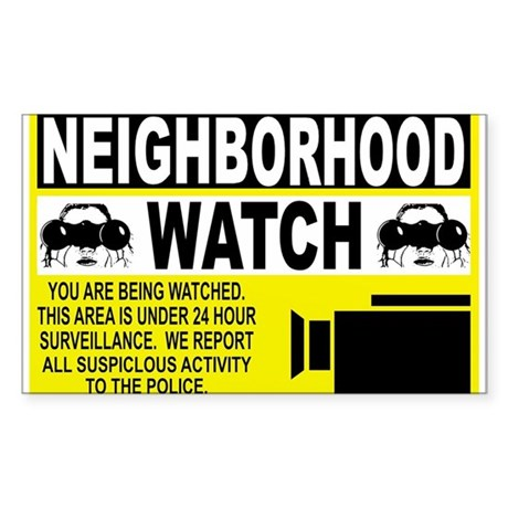 Neighborhood Watch Rectangle Sticker