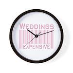 Weddings Expensive Pink Wall Clock