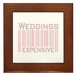 Weddings Expensive Pink Framed Tile