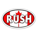 Rush to Canada! Oval Sticker