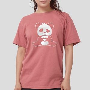 Panda's hands showing love Women's Dark T-Shirt