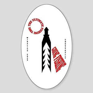 Ultimate Fishing Tool Oval Sticker