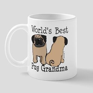 World's Best Pug Grandma Mug