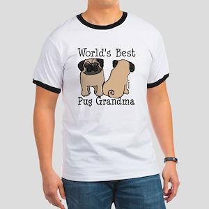 World's Best Pug Grandma Ringer T