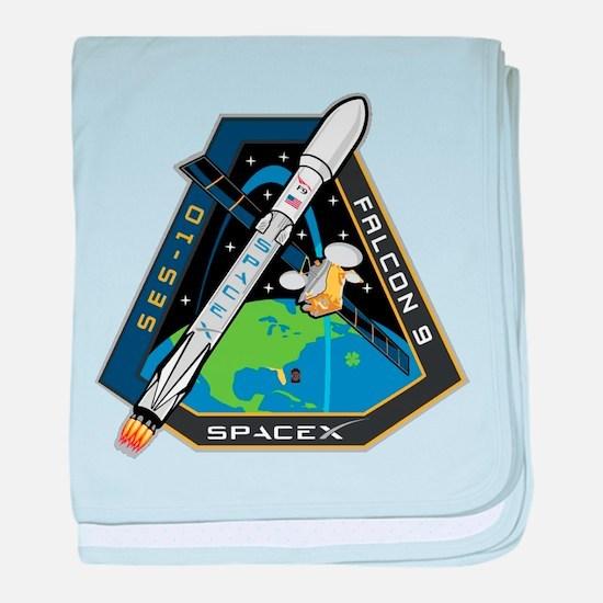 SES-10 Launch Team baby blanket