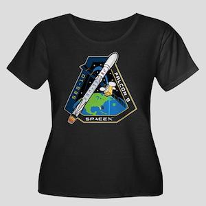 SES-10 L Women's Plus Size Scoop Neck Dark T-Shirt