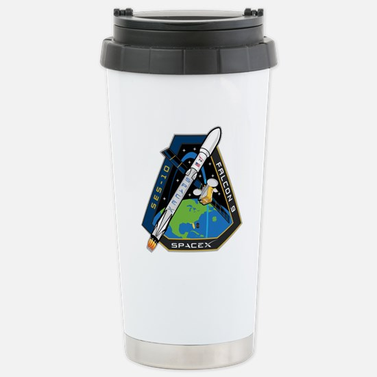 SES-10 Launch Team Stainless Steel Travel Mug