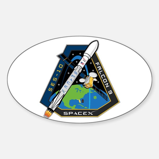 SES-10 Launch Team Sticker (Oval)