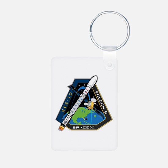 SES-10 Launch Team Aluminum Photo Keychain
