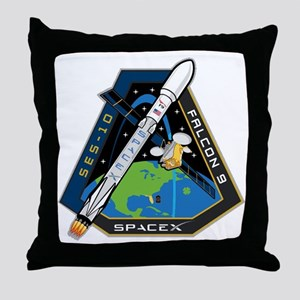 SES-10 Launch Team Throw Pillow