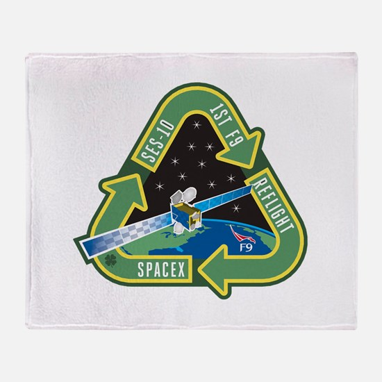 SES-10 Program Logo Throw Blanket